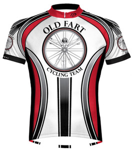Old Fart Cycling Team Jersey by Primal Wear Men's Short Sleeve Vitruvian Man with DeFeet Socks