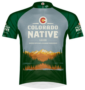 Primal Wear Colorado Native Lager Beer Cycling jersey Men's Short Sleeve with DeFeet Socks