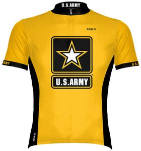 Primal Wear U.S. Army Cycling Jersey Men's Short Sleeve with DeFeet Socks