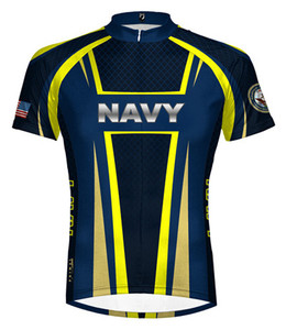 Primal Wear U.S. Navy Team Short Sleeve Cycling Jersey with DeFeet Socks