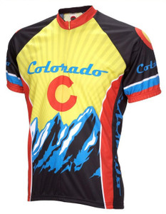 Colorado Cycling Jersey World Jerseys Men's Short Sleeve with Socks