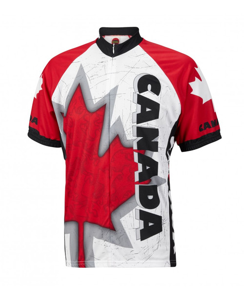 World Jerseys Canada Maple Leaf Cycling Jersey Mens Short Sleeve Free Shipping