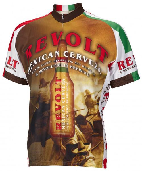 World Jerseys Revolt Cerveza Beer Cycling Jersey Mens Short Sleeve Free Shipping to Any U.S Address