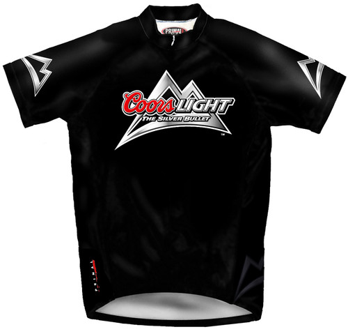 Primal Wear Coors Light Beer Cycling Jersey Men's Short Sleeve The Silver Bullet with DeFeet Socks