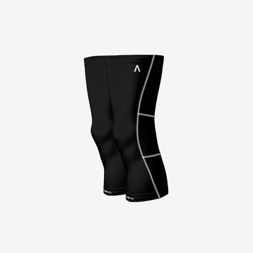 Primal Wear Mens Black Thermal Knee Warmers with White Contrasting Stitching