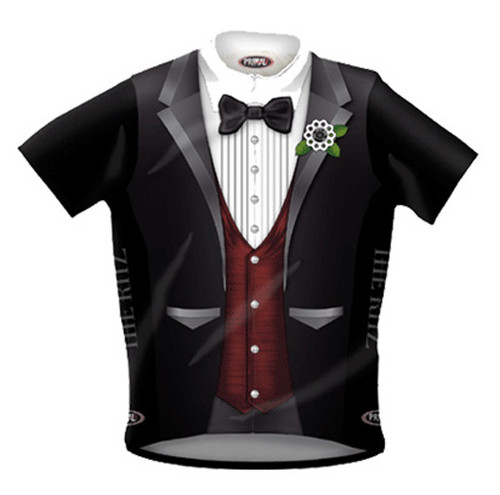 THE RITZ Primal Wear Tuxedo Cycling Jersey with DeFeet Socks