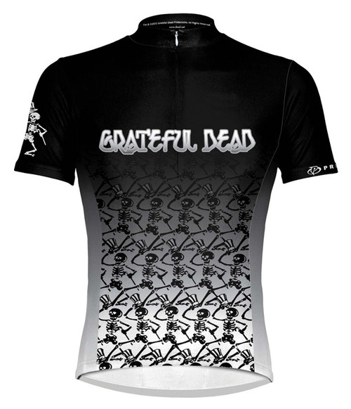 Primal Wear Grateful Dead Dancing Skeletons Cycling Jersey Men's Short Sleeve with DeFeet Socks