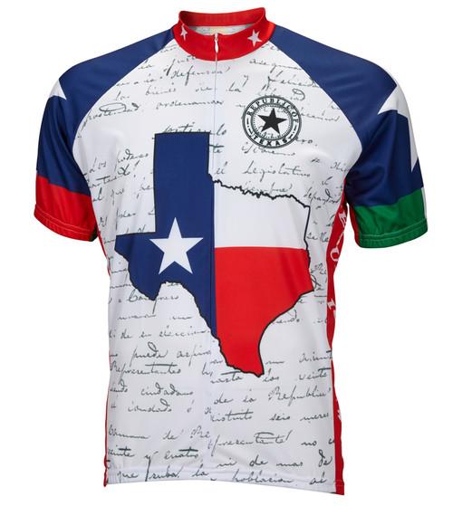 Texas Flag Cycling Jersey by World Jerseys Men's Short Sleeve