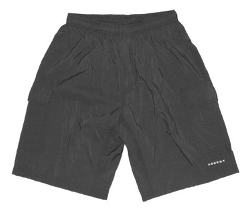 Ascent Baggy Cycling Shorts Charcoal Gray Men's, Nylon Outer, Padded Lycra Innershorts