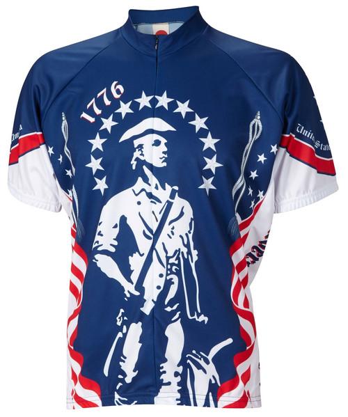 1776 Minutemen Cycling Jersey by World Jerseys Men's Short Sleeve with DeFeet Socks