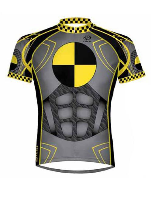 Primal Wear Crash Test Dummy Cycling Jersey Men's Short Sleeve with DeFeet Socks