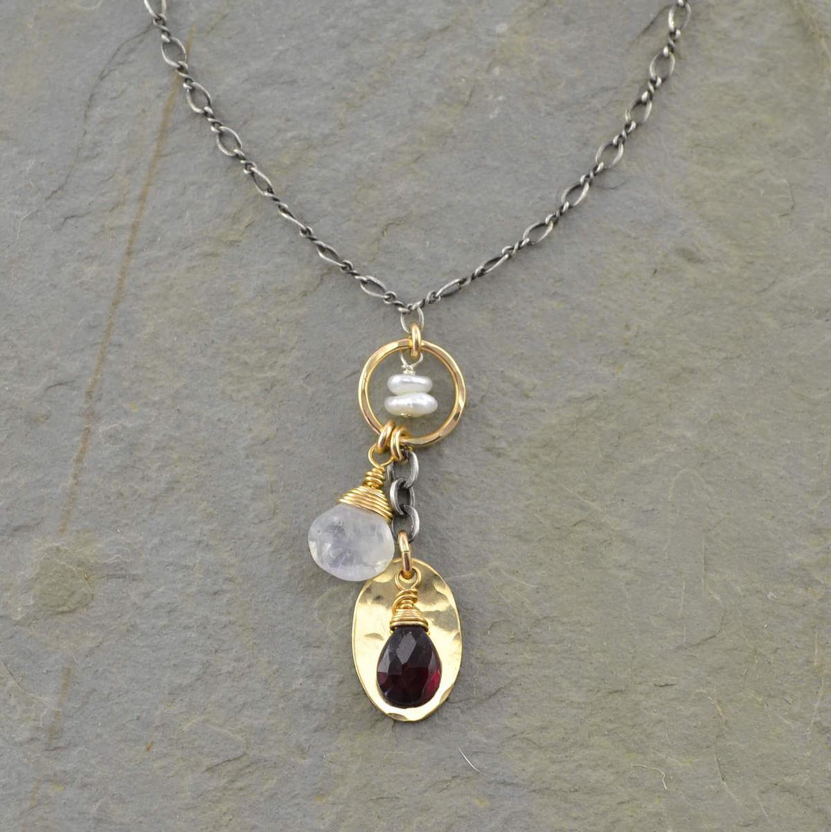 Hand-made gem pendant