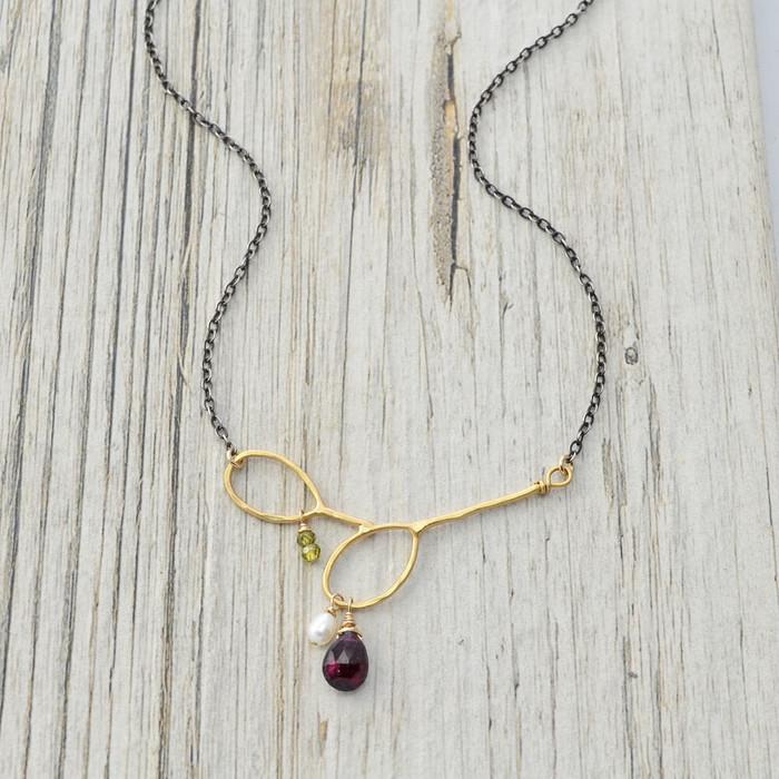 handmade gem necklaces: view 1