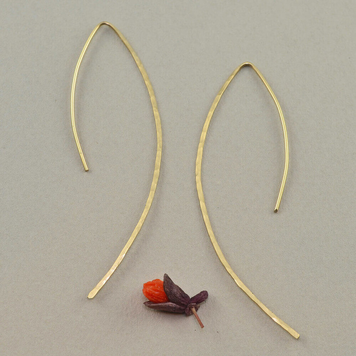 handmade earrings made with 14kt gold fill sterling silver
