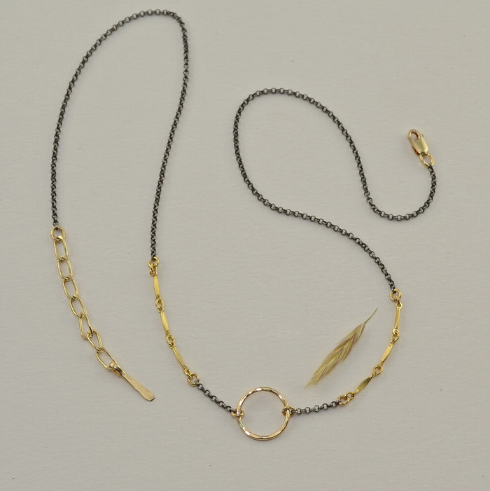 unique handmade chain necklace with simple design: view 1