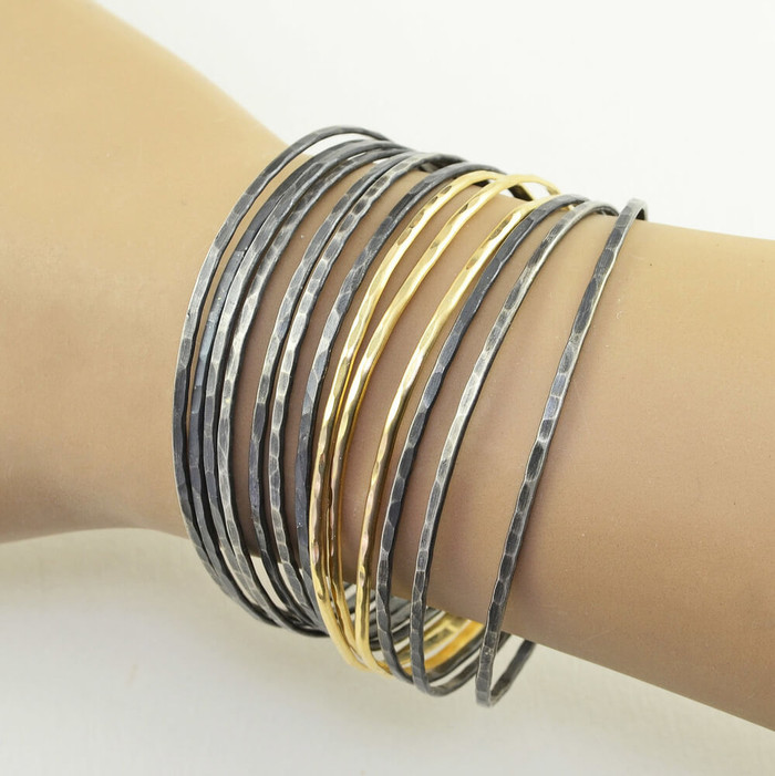 lightweight handmade sterling silver cuff bracelets