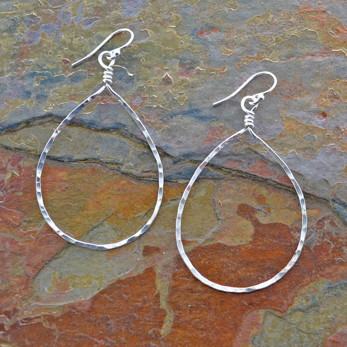 Handmade sterling Drop Earrings: view 1