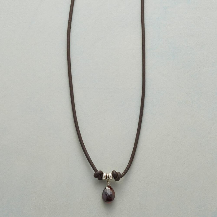 Captured Garnet Necklace