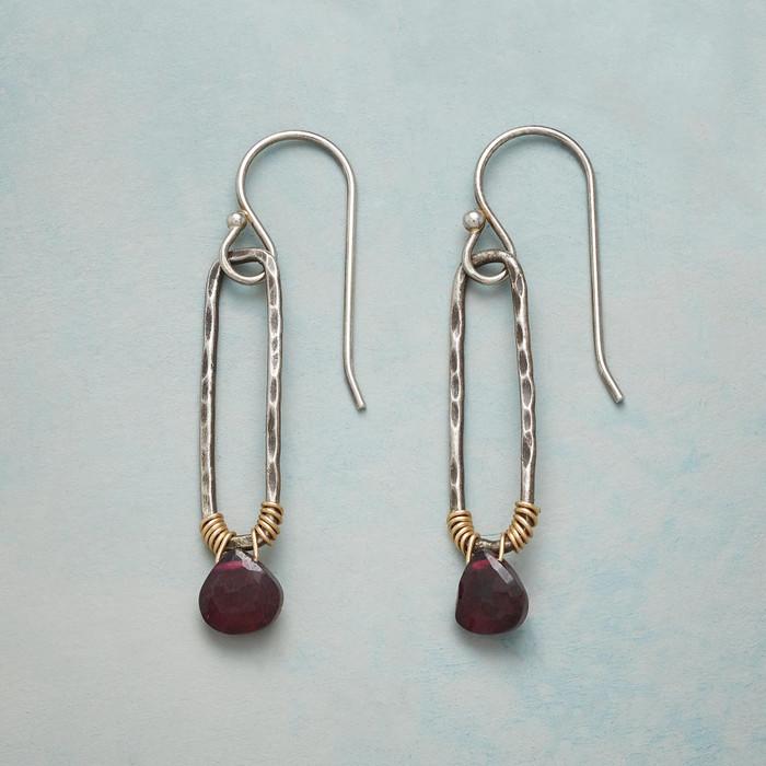 Emeline Garnet Earrings