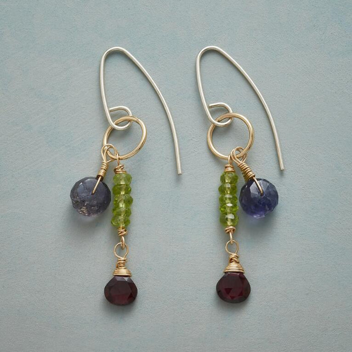 Gemstone Duet Earrings