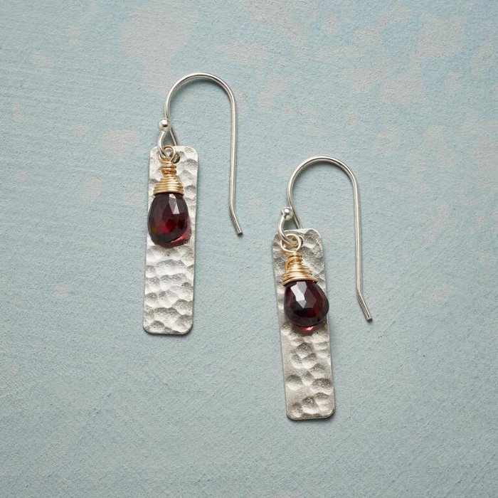 Wine and Candlelight Earrings