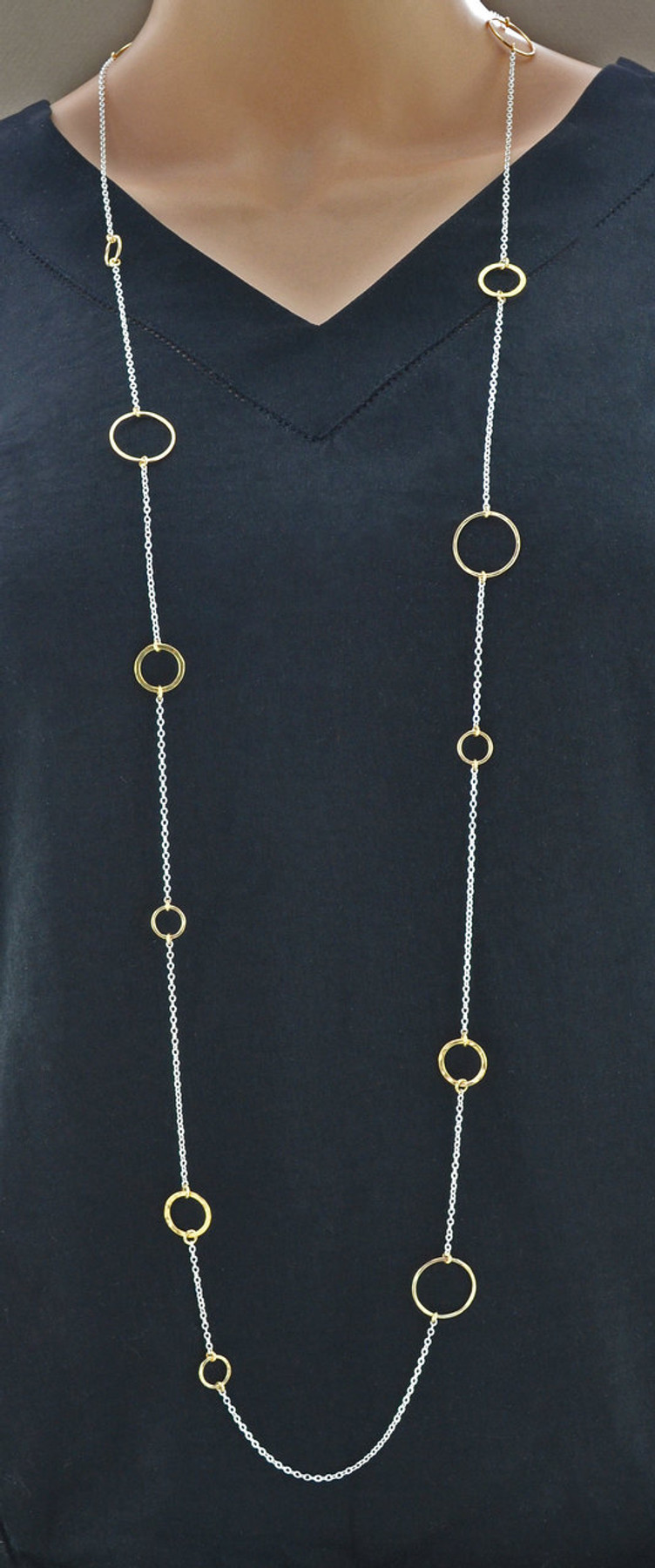Shimmering Multilayer Sterling Silver Necklace Chain: view 2