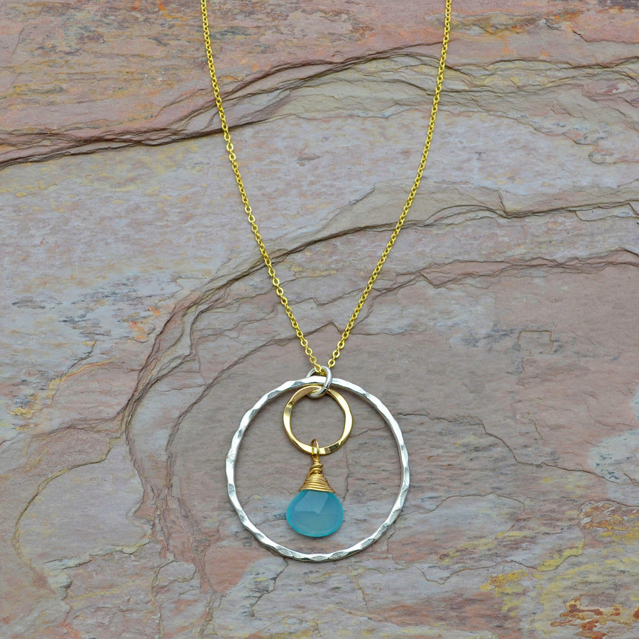 Encompassed Chalcedony Necklace