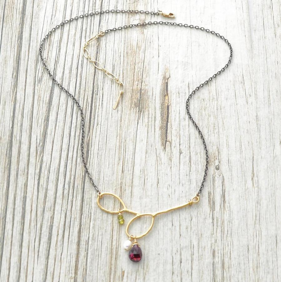 handmade gem necklaces: view 2