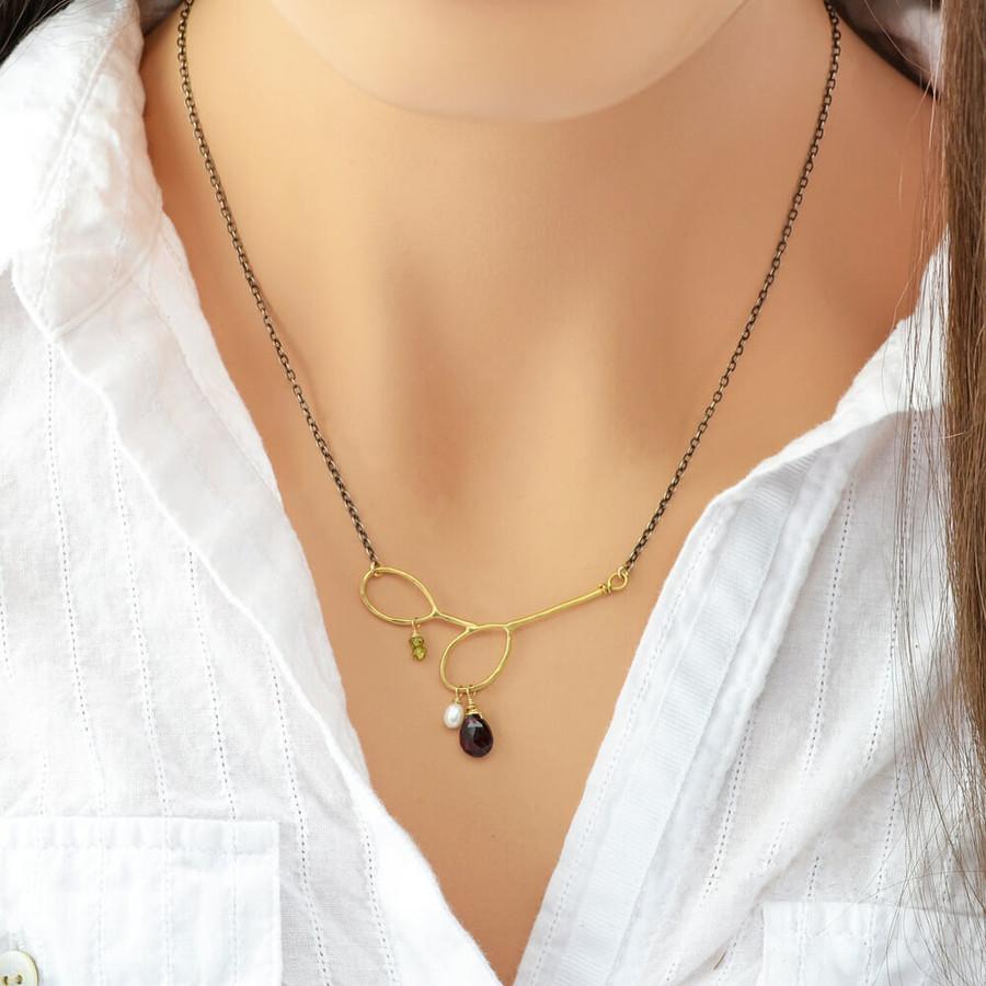 handmade gem necklaces: view 3