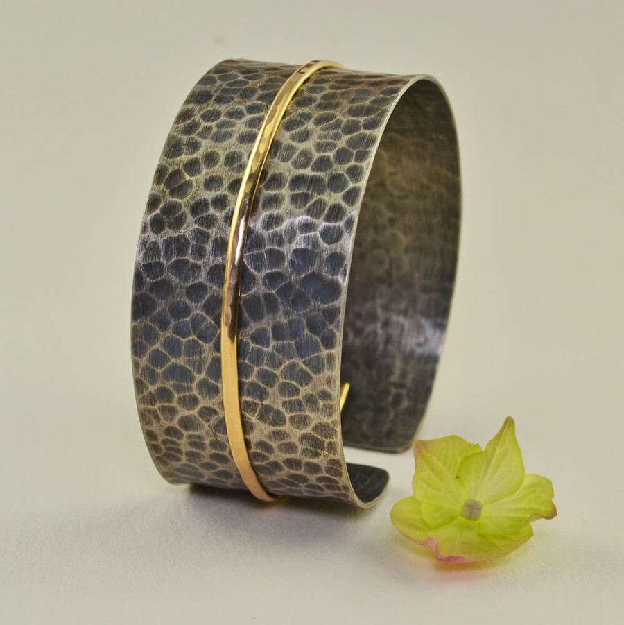 Adjustable handcrafted wide cuff bracelets: view 1