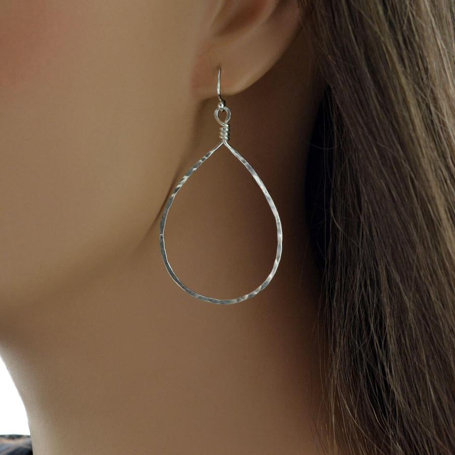 Handmade sterling Drop Earrings: view 2