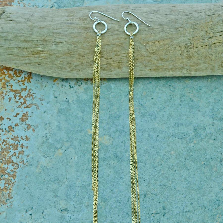 Goddess Gold Streaming Earrings