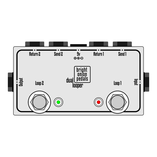 True Bypass Looper – Dual Looper Layout