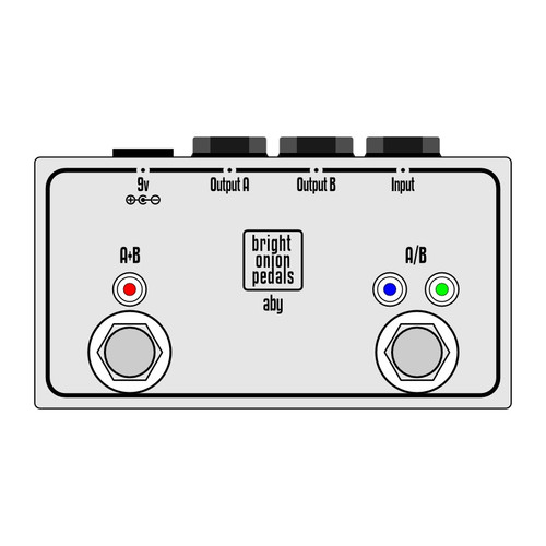 ABY Pedal with LEDs - Passive Layout