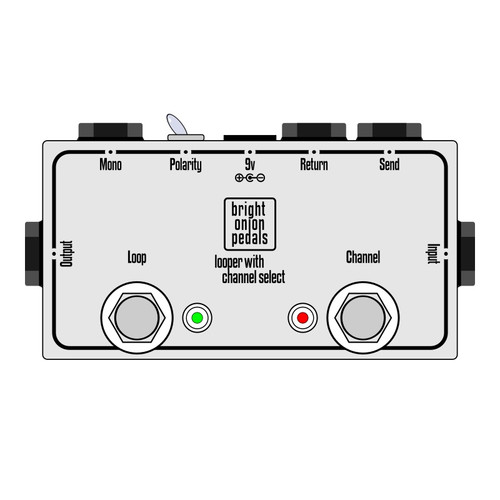 True Bypass Looper – Looper and Amp Channel Selector v2 Layout