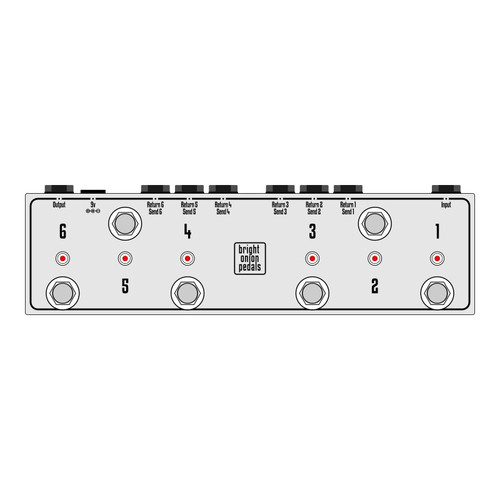True Bypass Looper – Design Your Own 6 Switch Looper