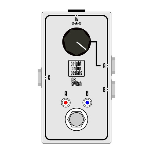 AB Switch with Volume Control Layout