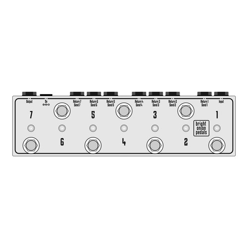True Bypass Looper – Design Your Own 7 Switch Looper