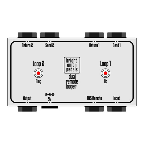 True Bypass Looper – Dual Remote Looper Layout