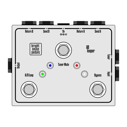 True Bypass Looper – Dual AB Looper with Tuner Mute Layout