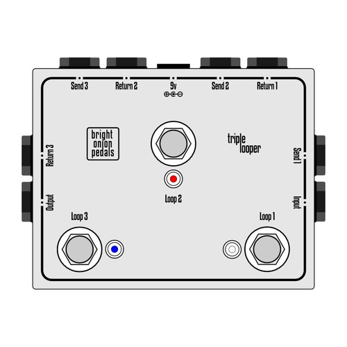 True Bypass Looper – Triple Looper Layout