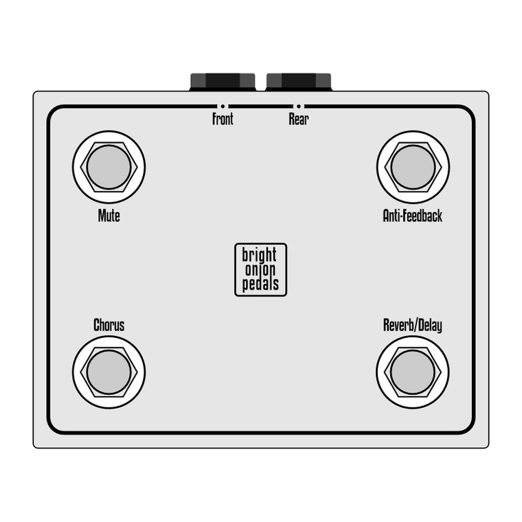 Roland AC-60 AC-90 Footswitch Layout