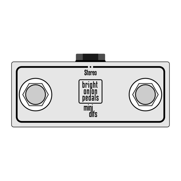 Latching Footswitch – Mini Dual Stereo