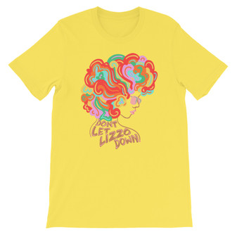 """Yellow Lizzo Music Tribute """"Don't Let Lizzo Down"""" Unisex T-Shirt"""
