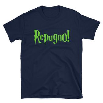 "Navy Blue Harry Potter Inspired ""Repugno"" Spell Unisex T-Shirt"