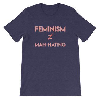 "Navy Blue Good Human ""Feminism Does Not Equal Man-Hating"" Unisex T-Shirt"