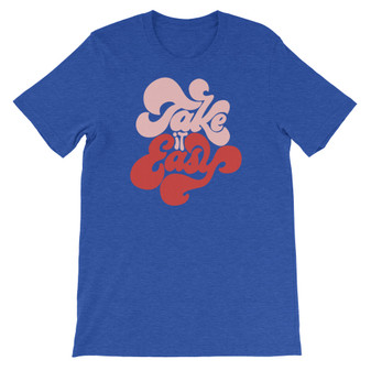 Bright Blue Retro Font Eagles Band Take It Easy Vintage Stylish T-shirt