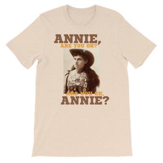 Tan Micheal Jackson/Annie Oakley Mashup - Annie Are You OK - Smooth Criminal T-Shirt