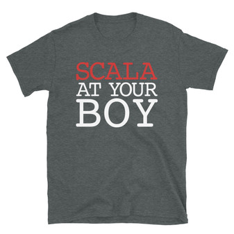 Dark Heather Grey Nerd Code Technical Engineering Joke  Inspired By WizKid - Scala At Your Boy - T-Shirt