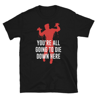 Black Resident Evil The Red Queen - You're All Going To Die Down Here Zombie Licker T Virus T-Shirt